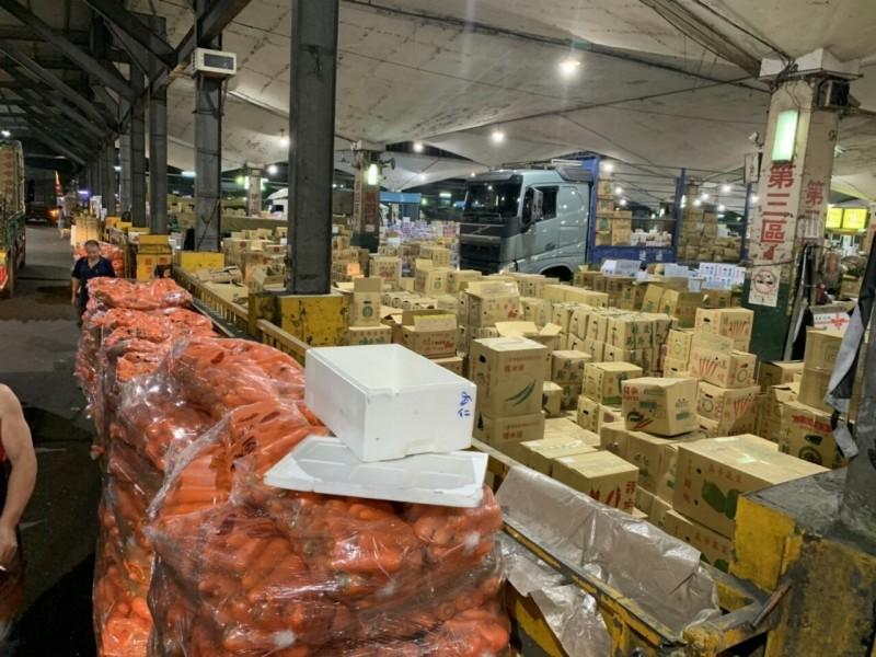 台北市批發市場供貨情形。(圖:市場處提供)