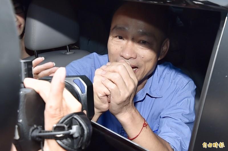 韓國瑜民調不停下降,名嘴黃創夏大嘆挺不住了。圖為韓國瑜(資料照)