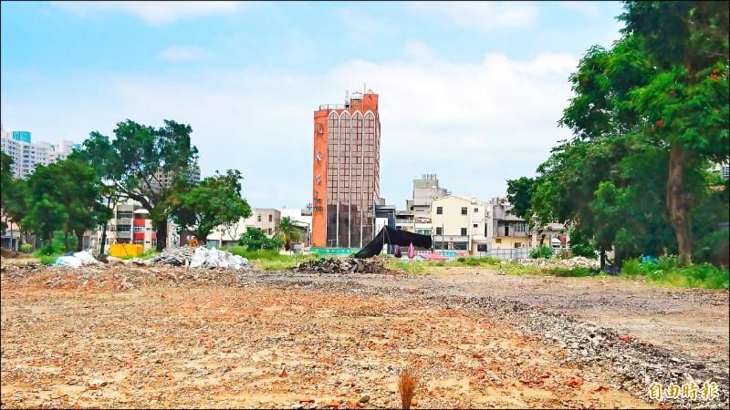 赤崁文化園區成功國小地層考古搶救已完畢,九月將進行校舍工程。(記者劉婉君攝)