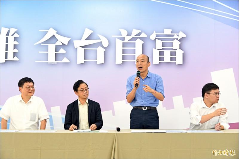 高雄市長韓國瑜昨再度強調,只要在安全無虞、人民同意情況下,絕對支持重啟核四。(記者張忠義攝)