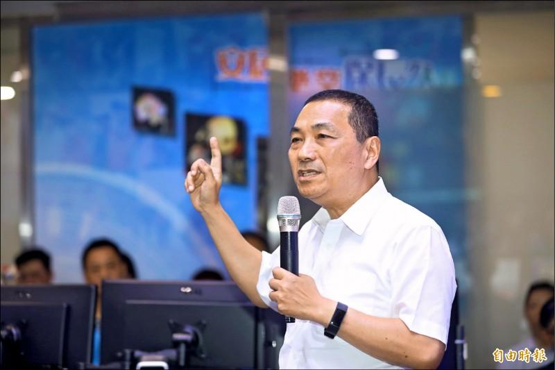 新北市長侯友宜昨指出,沒有能力處理核廢料,就沒資格使用核電。(記者賴筱桐攝)