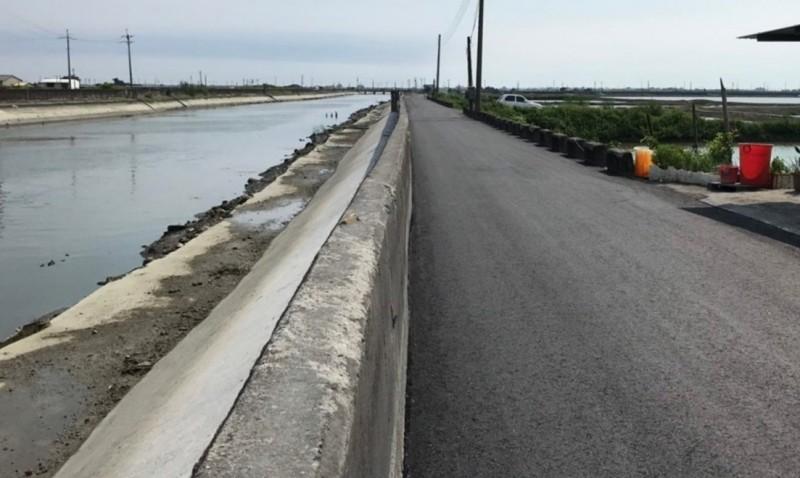 嘉義縣的治水工程狀況,有部分接近完工。(記者林宜樟翻攝)