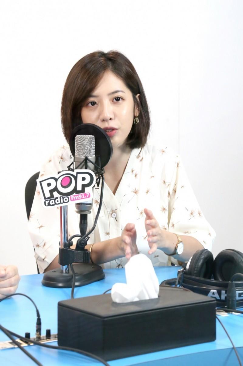 黃瀞瑩今上午接受《POP搶先爆》訪問。(《POP搶先爆》提供)