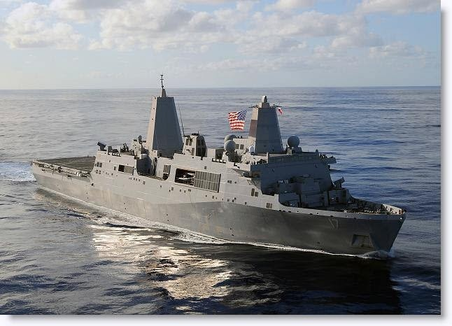 美國聖安東尼奧級船塢運輸艦(取自美國海軍網站)