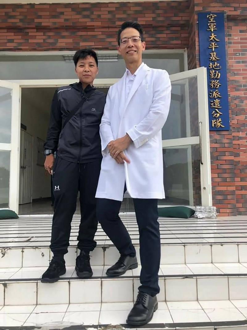 國軍高雄總醫院倪英睿醫師派駐南沙太平島。(圖/國軍高雄總醫院提供)