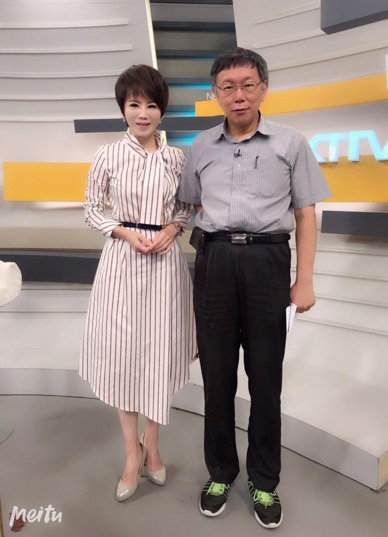 台北市長柯文哲(右)接受壹電視專訪。(壹電視提供)