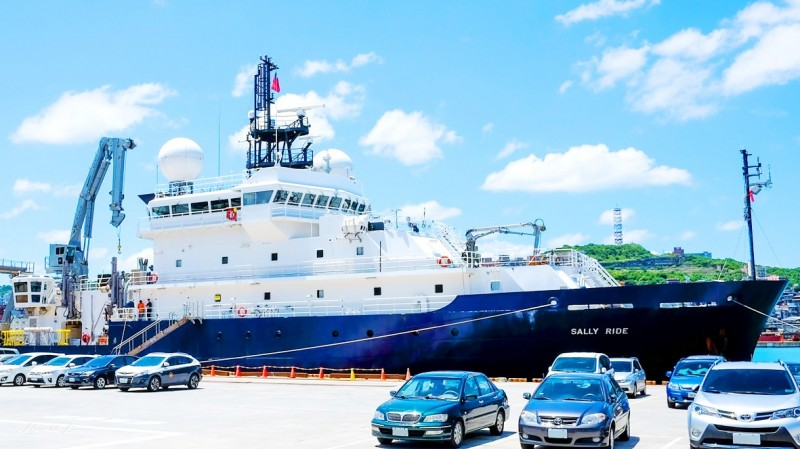 《TAIPEI TIMES》 'Sally Ride' berths at Port of Keelung
