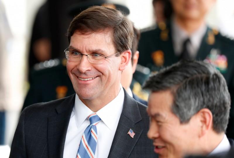 美國國防部長艾斯培(Mark Esper)。(法新社)