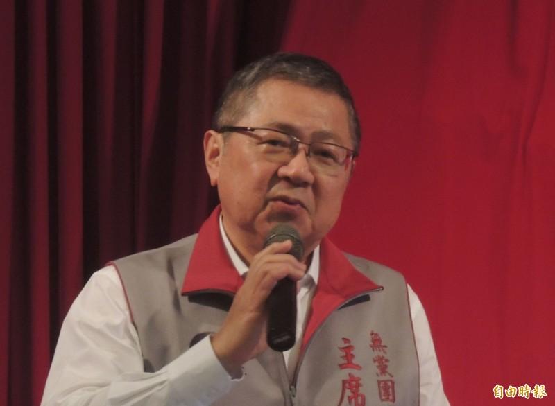 無黨團結聯盟主席林炳坤被宣告破產,痛斥為有心人刻意操作,將抗告到底。(記者劉禹慶攝)