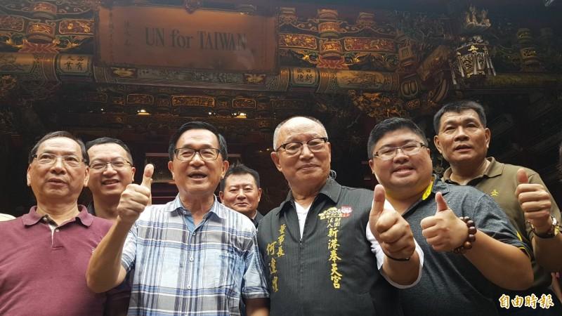 陳水扁訪新港 參拜開臺媽祖辦簽書會