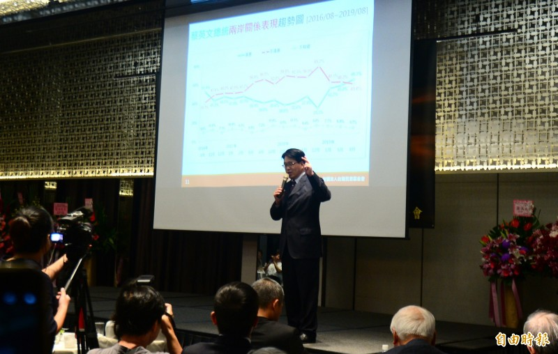 台灣民意基金會今天公布的8月民調,在好感度方面有48.4%討厭國民黨總統參選人、高雄市長韓國瑜,跟中國國家主席習近平差不多,喜歡韓的人數2個月流失4.5%,換算是流失近百萬人的支持。(記者王藝菘攝)
