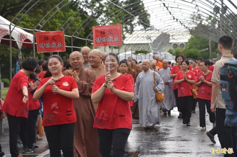南部供佛齋僧法會登場 台日韓上千名僧侶同霑法喜