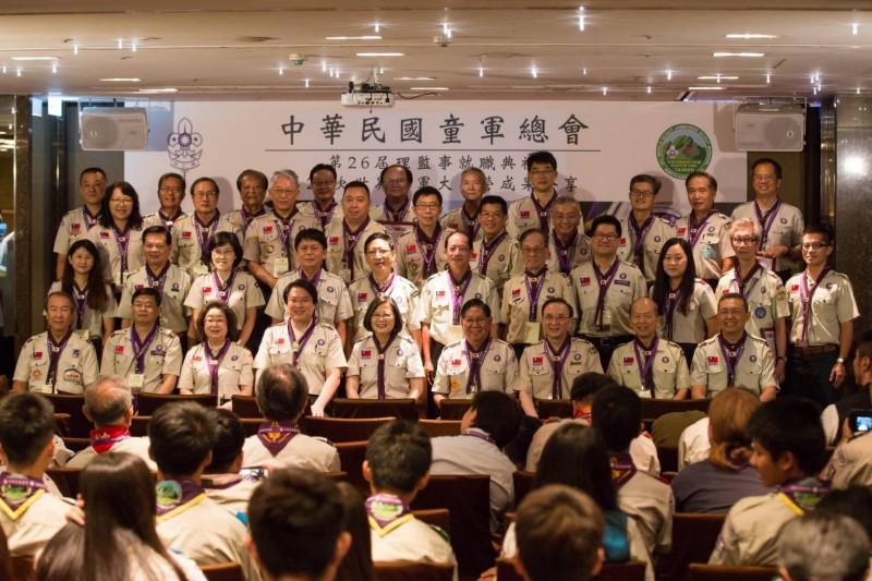 林右昌連任童軍總會理事長 鼓勵各縣市成立童軍團