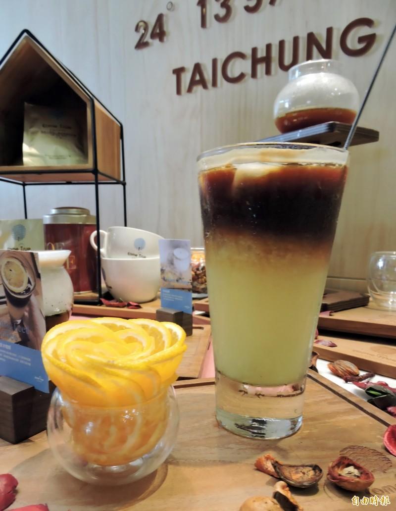 橙香冰咖啡果香四溢。(記者張菁雅攝)