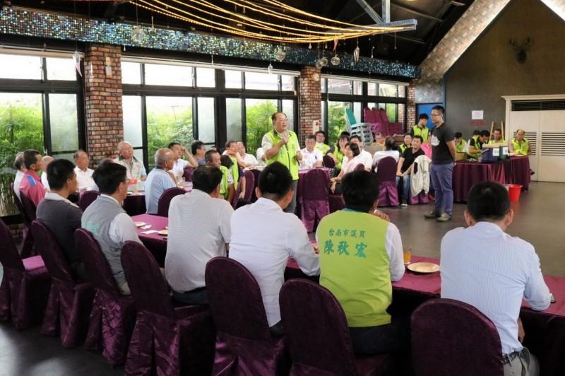 蔡英文台南競選總部召開地方組織會議,力拚總統連任,立委全壘打。(民進黨台南市黨部提供)