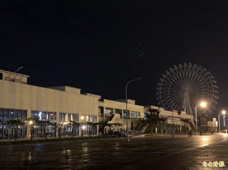 台中港三井停電。(記者張軒哲攝)