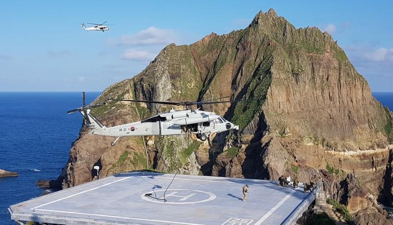 南韓獨島演習  最精銳部隊、戰艦全出動