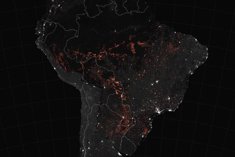 火燒亞馬遜 NASA公布衛星圖「密集紅點」遍布巴西