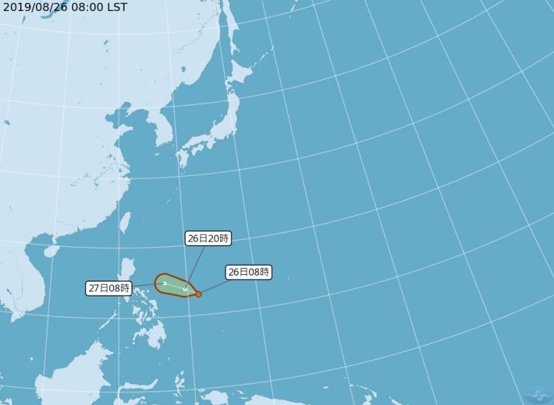 熱帶性低氣壓今明可能成颱 週四起南台灣防局部較大雨勢