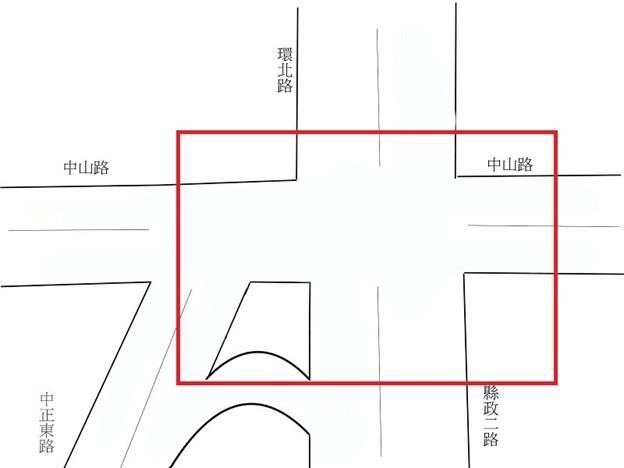 新竹縣議員林增堂建議評估設置圓環之可行性的整體規劃範圍。(林增堂提供)
