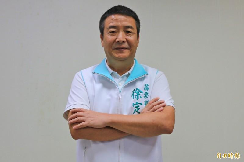 前頭份市長徐定禎將加入民進黨參選明年苗栗山線立委。(記者鄭名翔攝)