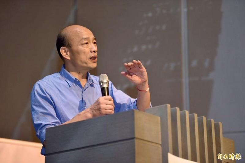 韓國瑜競選總部北部辦公室主任鄭世維表示,呼籲全國各地支持韓國瑜參選總統的人,93當天都到各縣市參與活動。圖為國民黨總統參選人韓國瑜。(資料照)