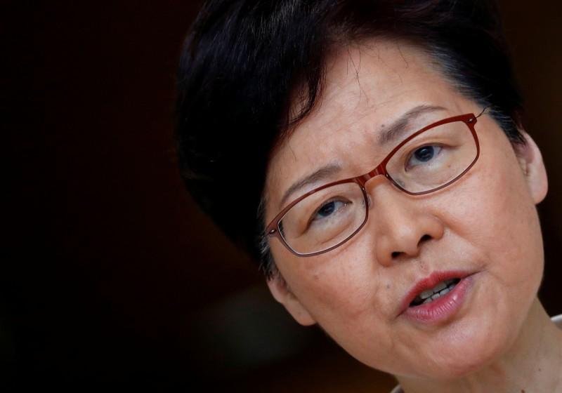 特首辦公室今日發新聞稿回應林鄭月娥對香港警隊的看法。(路透)