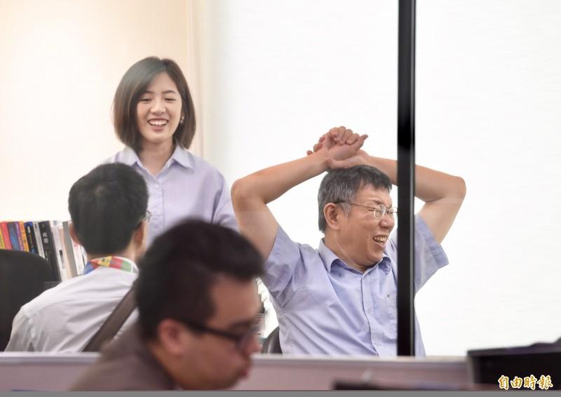 台北市府副發言人「學姊」黃瀞瑩表示,目前沒有參選規劃。(資料照,記者羅沛德攝)