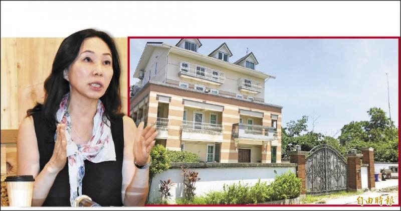 高雄市長韓國瑜的妻子李佳芬(左圖,記者林國賢攝)昨在雲林召開說明會表示,所持有農舍農地(右圖,資料照)已轉售過戶,權狀二十二日已正式更名,變成買主名字。