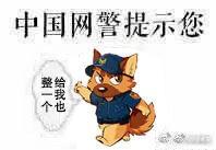 中國網民盜用成為網警貼圖。(擷圖自網路)