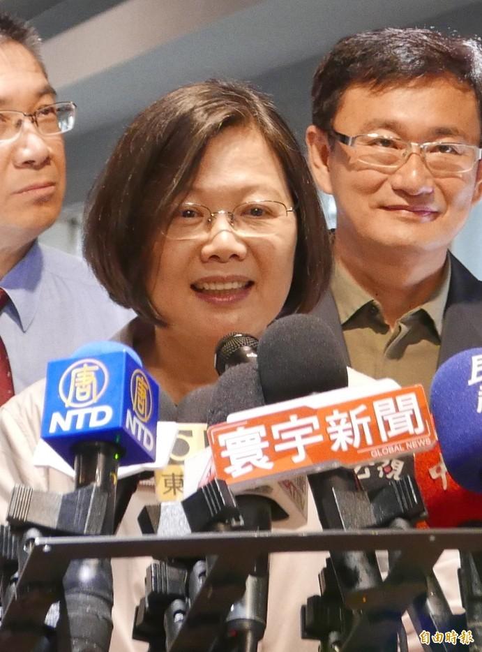 蔡英文對新移民對台灣的貢獻,表達感謝,呼籲全台灣破除除歧視新移民的想法。(記者蔡淑媛攝)