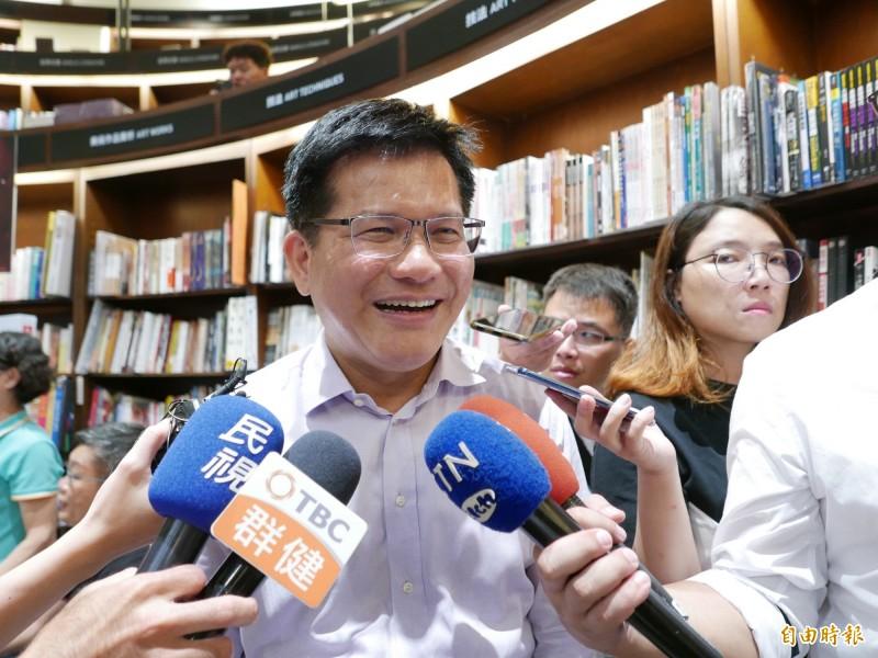 林佳龍表示,黃之鋒如能離境香港,一樣非常歡他來台。(記者蔡淑媛攝)