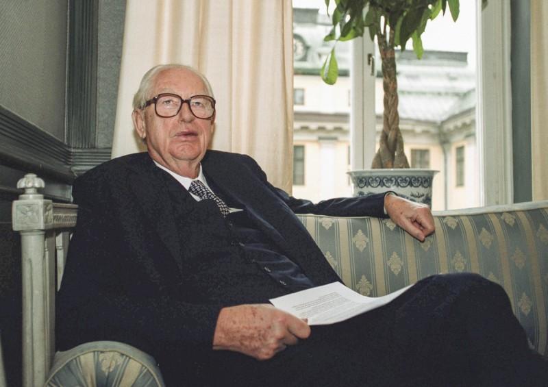 瑞典億萬富豪勞辛(Hans Rausing),將利樂包推向國際,29日與世長辭,享年93歲。(歐新社)