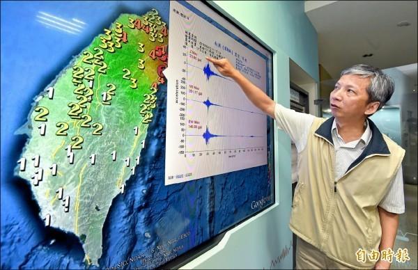 氣象局明年起將把地震震度細分為10級,其中5級以上會再細分強、弱。圖為示意圖。(資料照)