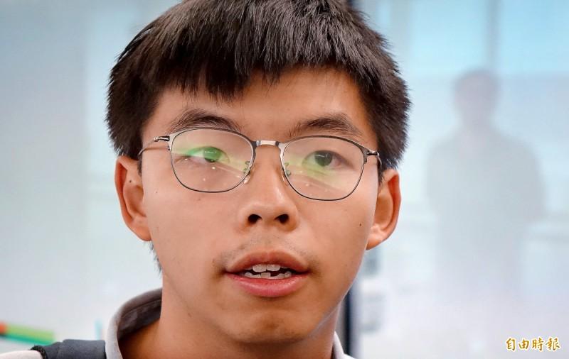 香港眾志秘書長黃之鋒3日上午表示,香港人的心裡希望所達到的未來的夢想則是「今天台灣、明天香港」,香港有一天可以成為一個有民主、有自由的地方。(記者朱沛雄攝)