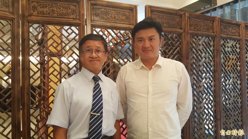 畜產公司董事長葉文忠(左)、畜產公司總經理姚量議(右)。(記者楊心慧攝)