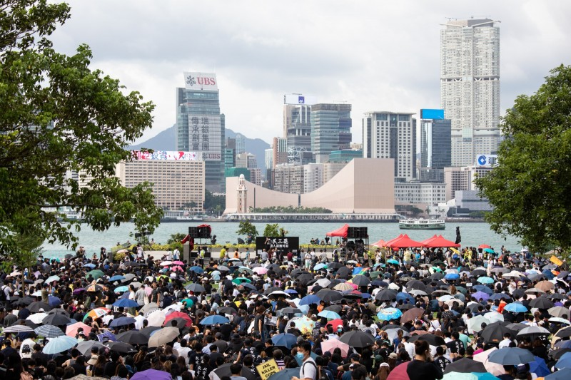 李柱銘提到,北京一再違背自己的承諾,是近年來大規模抗議的一切根源。(彭博)