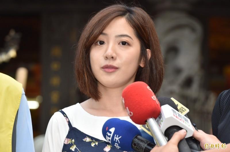 「學姊」黃瀞瑩可能參選台北市立委。(記者塗建榮攝)