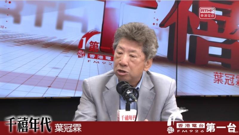 香港行政會議成員湯家驊今日表示,對於港府實施《緊急法》持保留態度,又稱可以引用《公安條例》,允許特首委任「特務警察」輔助。非今日照片。(圖擷取自《千禧年代》節目畫面)