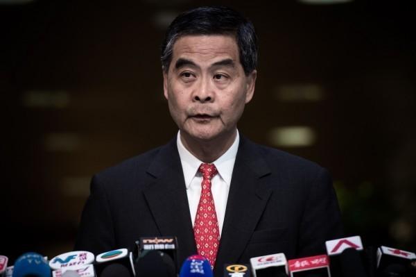 梁震英今在臉書發文抨擊台灣,並稱未來香港暴徒的模式會在台灣「遍地開花」。(法新社)