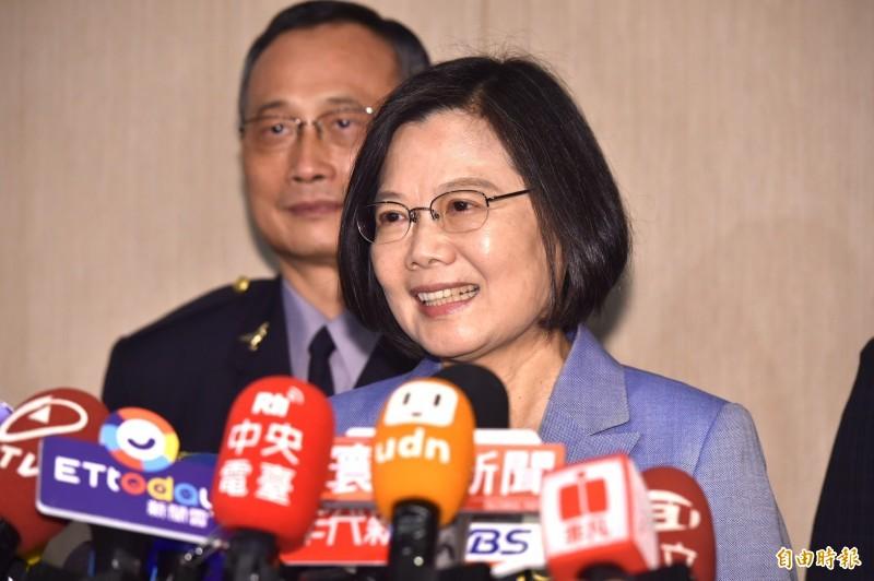 總統蔡英文表示,對於香港人民對自由民主訴求是支持且關心,但不介入,對香港人民需要人道協助會按照法律提供必要的協助。(記者塗建榮攝)