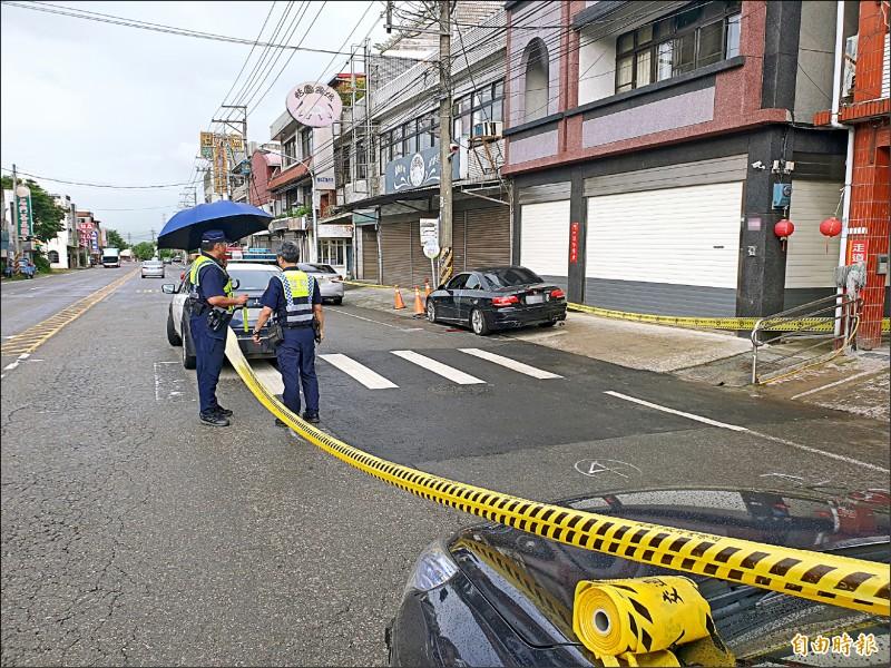 「貓霖幫」幫主江宗霖昨在老家門前遭人槍擊身亡。(記者許倬勛攝)