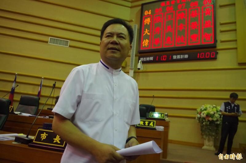 前嘉義市國民黨副議長郭明賓當選無效確定,將由同選區落選頭遞補議員遺缺。(記者王善嬿攝)