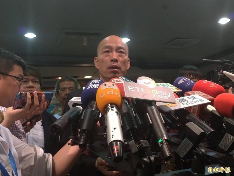 韓國瑜再談新住民,強調沒任何歧視意思。(記者王榮祥攝)