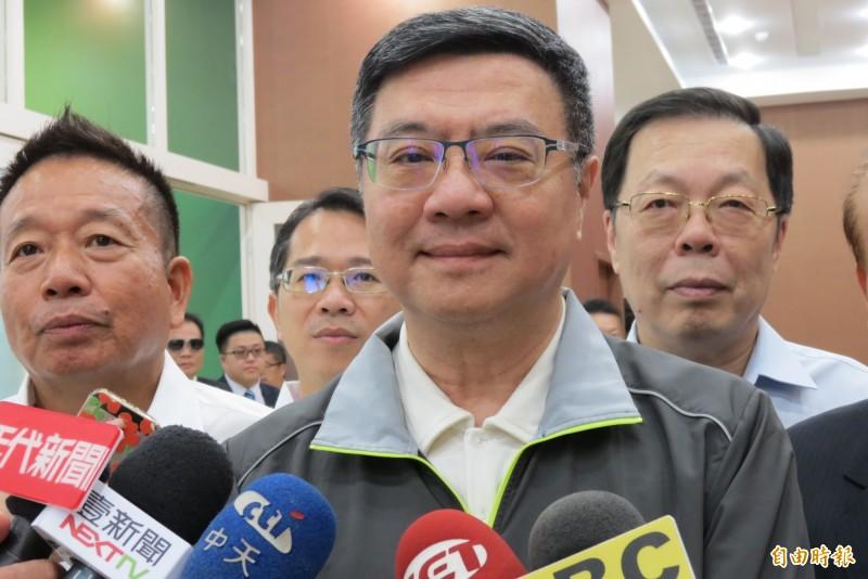 只重視中台灣?卓榮泰表示,每一區都重要,全台灣的佈局在民進黨的掌握。(記者蘇金鳳攝)