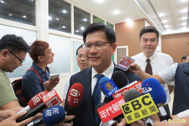 林佳龍表示,2020一役關乎台灣成為下一個一國兩制的犧牲品,還是主權獨立民主繁榮的國家。(記者蘇金鳳攝)