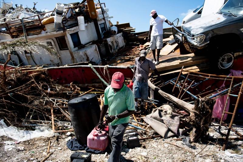 颶風多利安至少造成巴哈馬與美國共49人罹難。圖為嚴重受創的巴哈馬。(法新社)