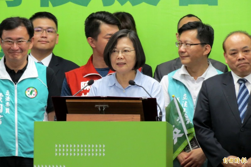 蔡英文表示,只要她當選,一定會守護台灣的主權。(記者蘇金鳳攝)