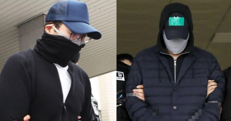 韓國SK集團創始人崔鍾建31歲金孫(右)、現代汽車創辦人鄭周永28歲孫子(左)、CJ集團董事長李在賢29歲長子,這3大財閥貴公子都涉嫌吸食大麻,但全都獲釋在外到處趴趴走。(圖擷自@HuffPostKorea推特)