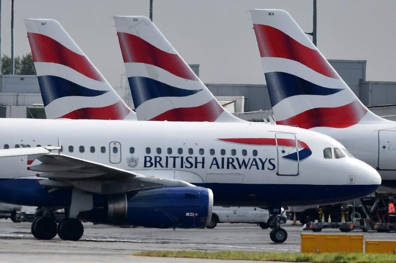 英國航空機師今明兩天罷工,目前英航已取消9日、10日「接近100%」的航班。(法新社)